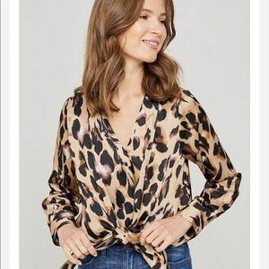 Beautiful, washable animal print blouse